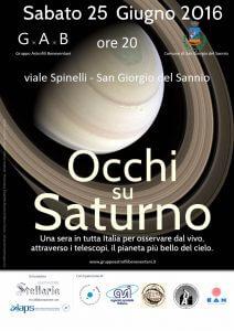 G.A.B. - Occhi su Saturno - Benevento - 2016